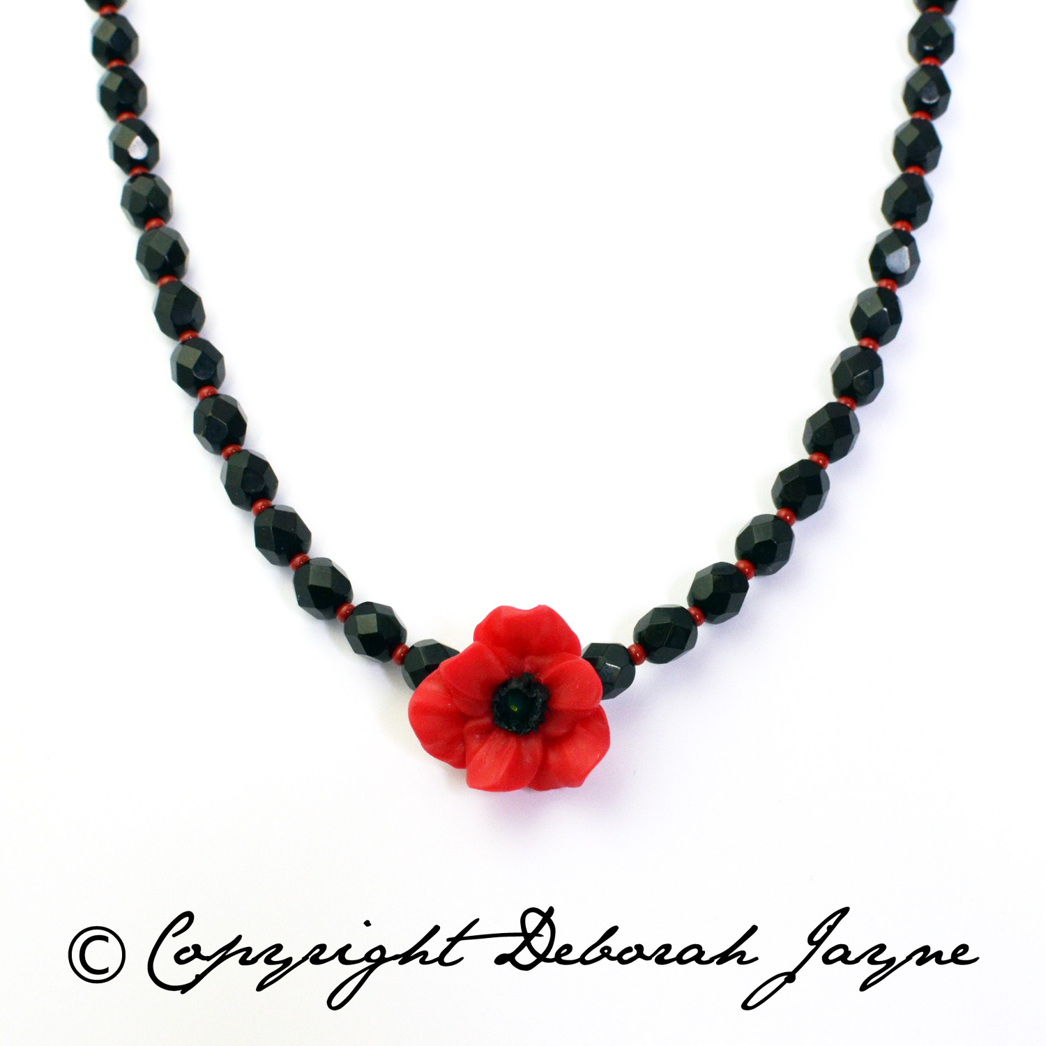 remembrance day jewellery, poppy appeal necklace