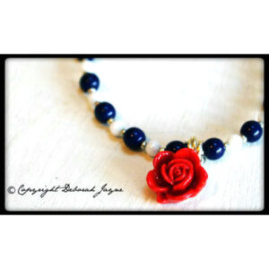 saint georges day red rose necklace