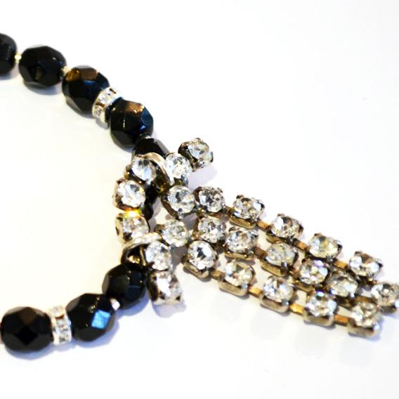 repurposed deco necklace