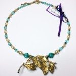 reimagined vintage jewellery leaf turquoise pearl gold