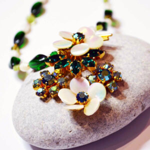 vintage floral statement necklace
