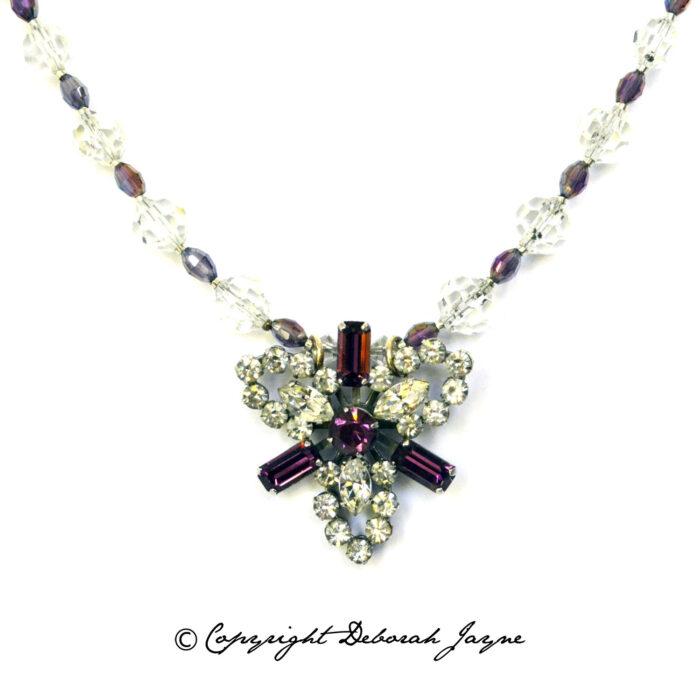 vintage cocktail necklace