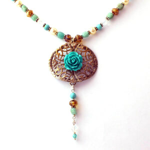 Reworked vintage turquoise necklace