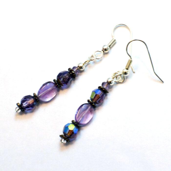 boho chic amethyst earrings