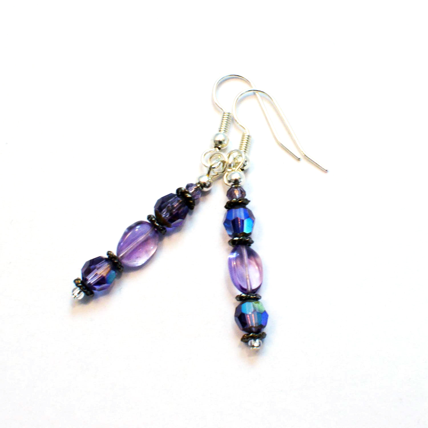 boho chic amethyst earrings