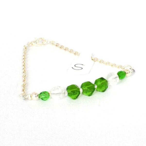 vintage green crystal bracelet