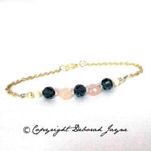 semi-precious and vintage bracelet