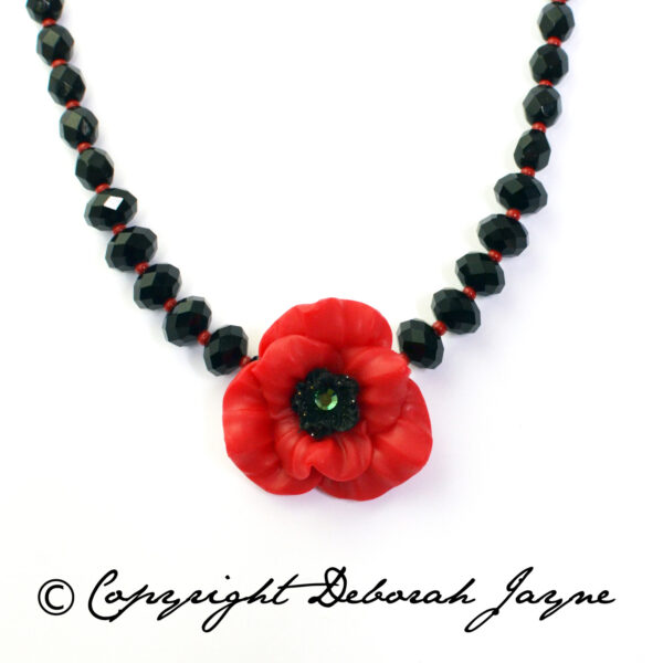 remembrance poppy necklace