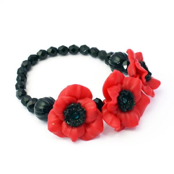 remembrance poppy bracelet