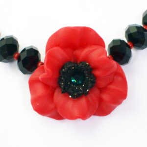 handcrafted poppy necklace