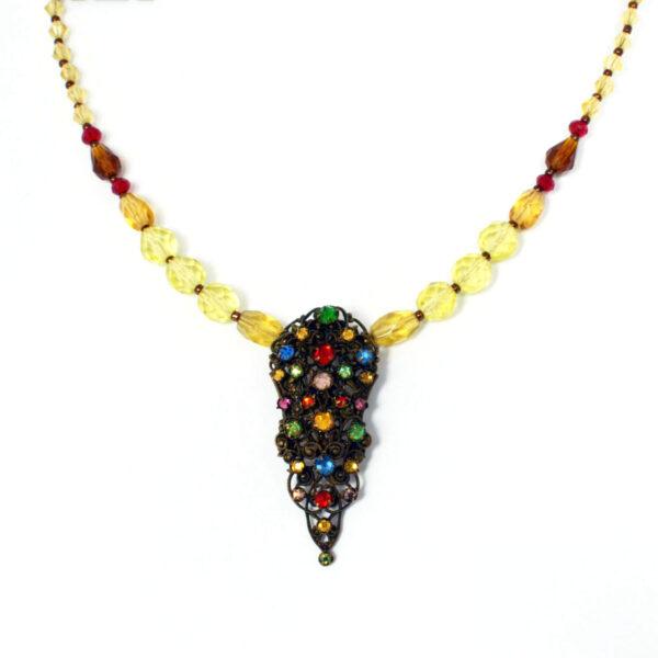 re-imagined vintage necklace