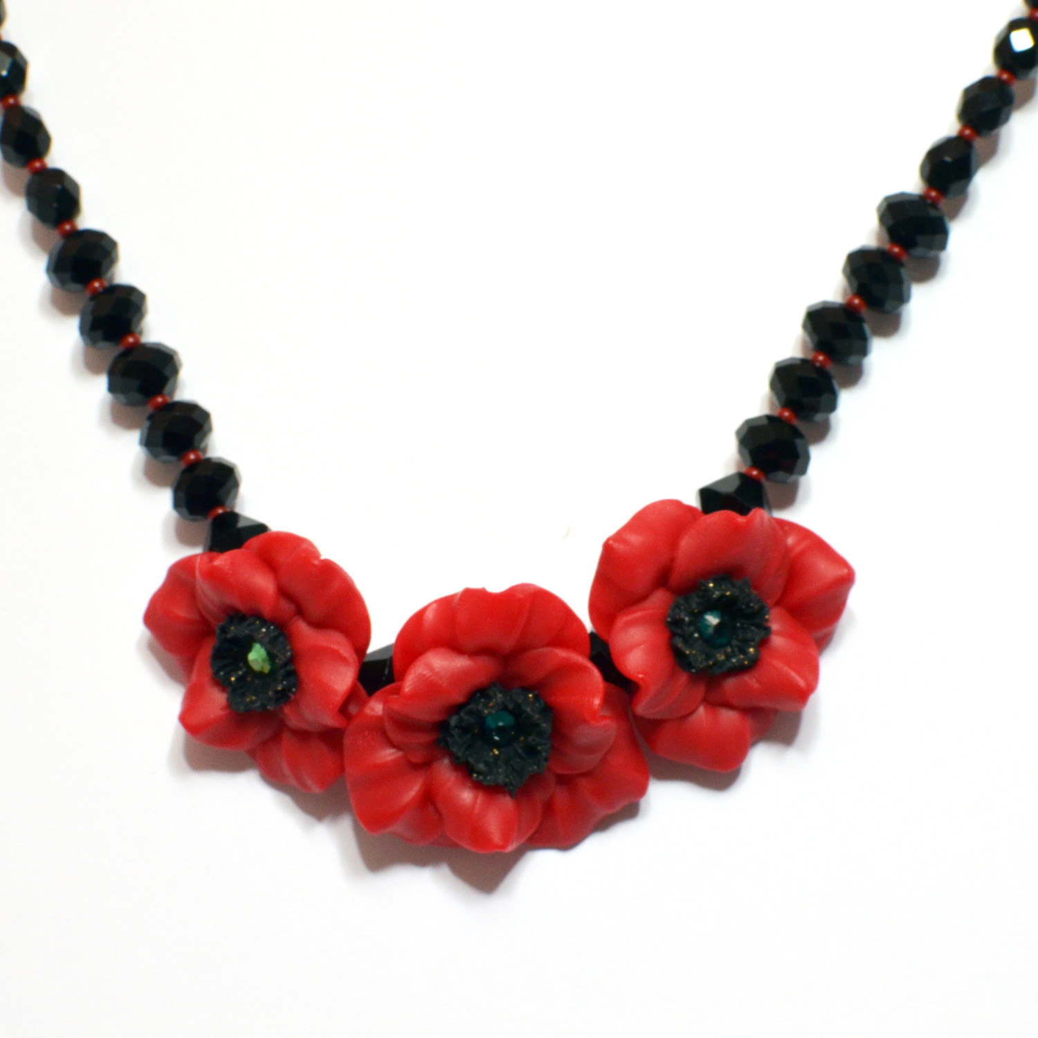 statement poppy necklace