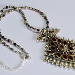 Indian pendant necklace upcycled recycled vintage beads