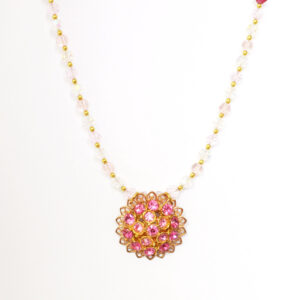 bright pink necklace