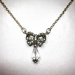 vintage crystal wedding bridal necklace ethical
