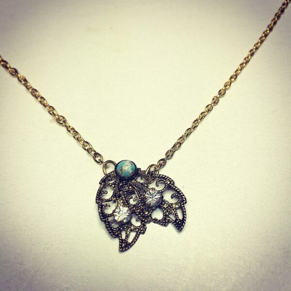 something old something new, vintage, jewellery, leaf, bridal, necklace