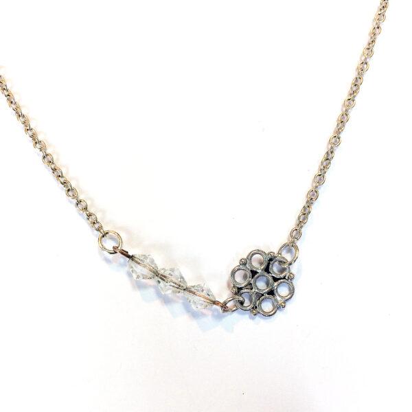 silver bridal necklace