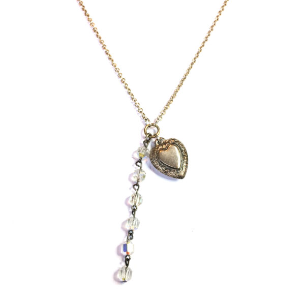 love heart bridal necklace