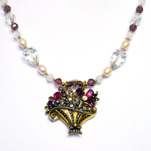 flower basket necklace