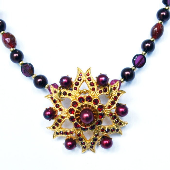 vintage star necklace