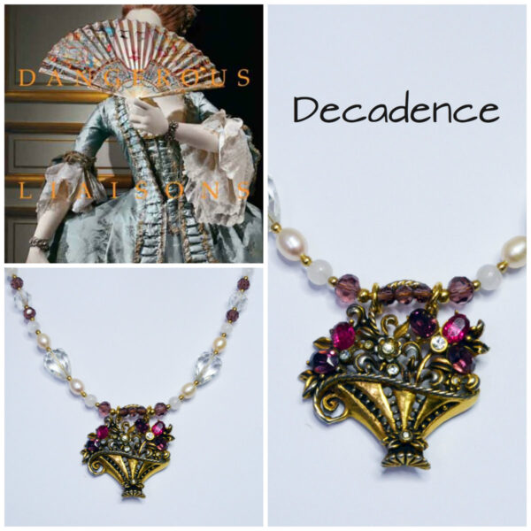 flower basket necklace dangerous liaisons literary inspired jewellery 18th Century French style