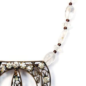 reworked vintage bridal necklace
