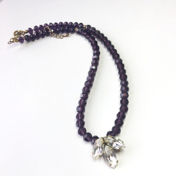 repurposed vintage jewellery, purple