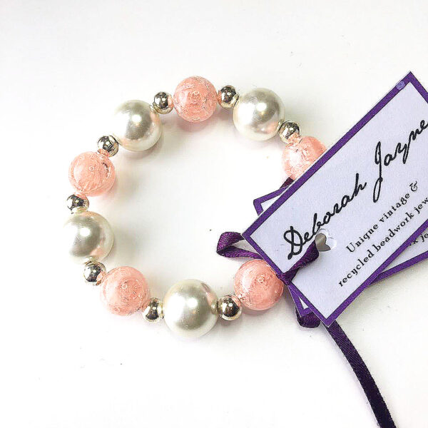 upcycled bead bracelet