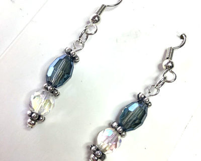handmade vintage crystal earrings