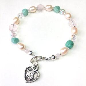 love heart charm bracelet