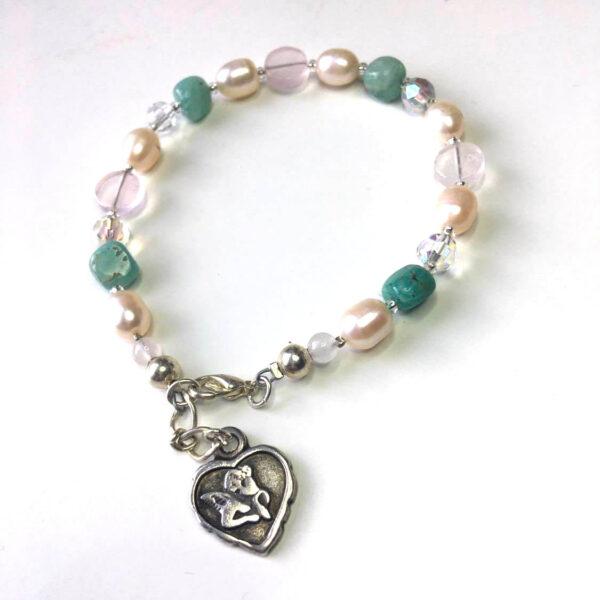 vintage love heart bracelet