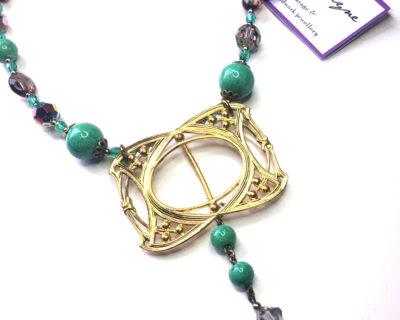 repurposed buckle necklace