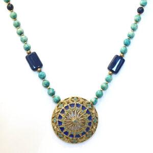 vintage amulet necklace