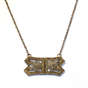 Victorian buckle necklace