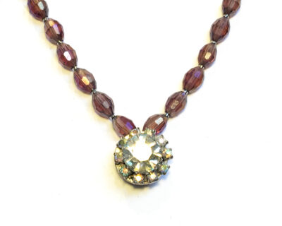 vintage sparkle necklace