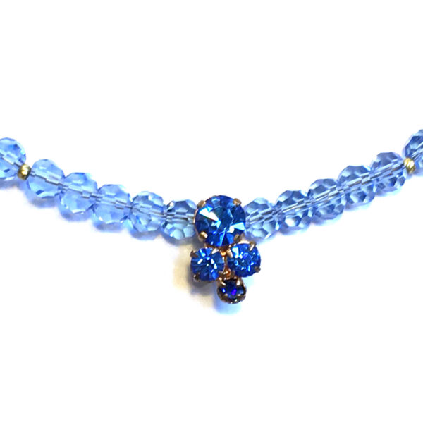 blue vintage necklace