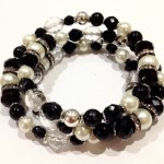 black white bracelet commission commissioned recycled beads ethical bespoke