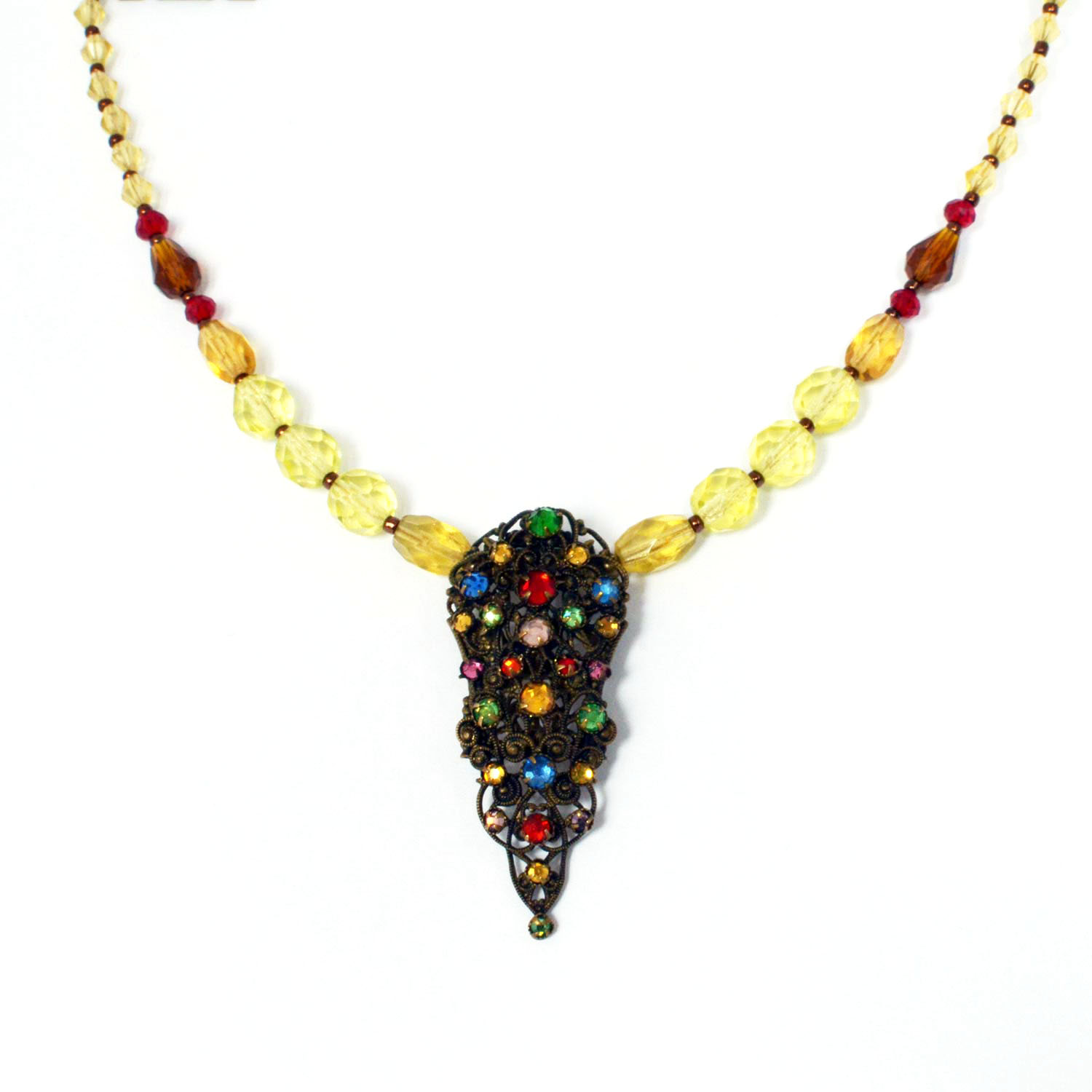re-imagined vintage necklace