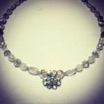 bridal range necklace subtle vintage sparkle wedding