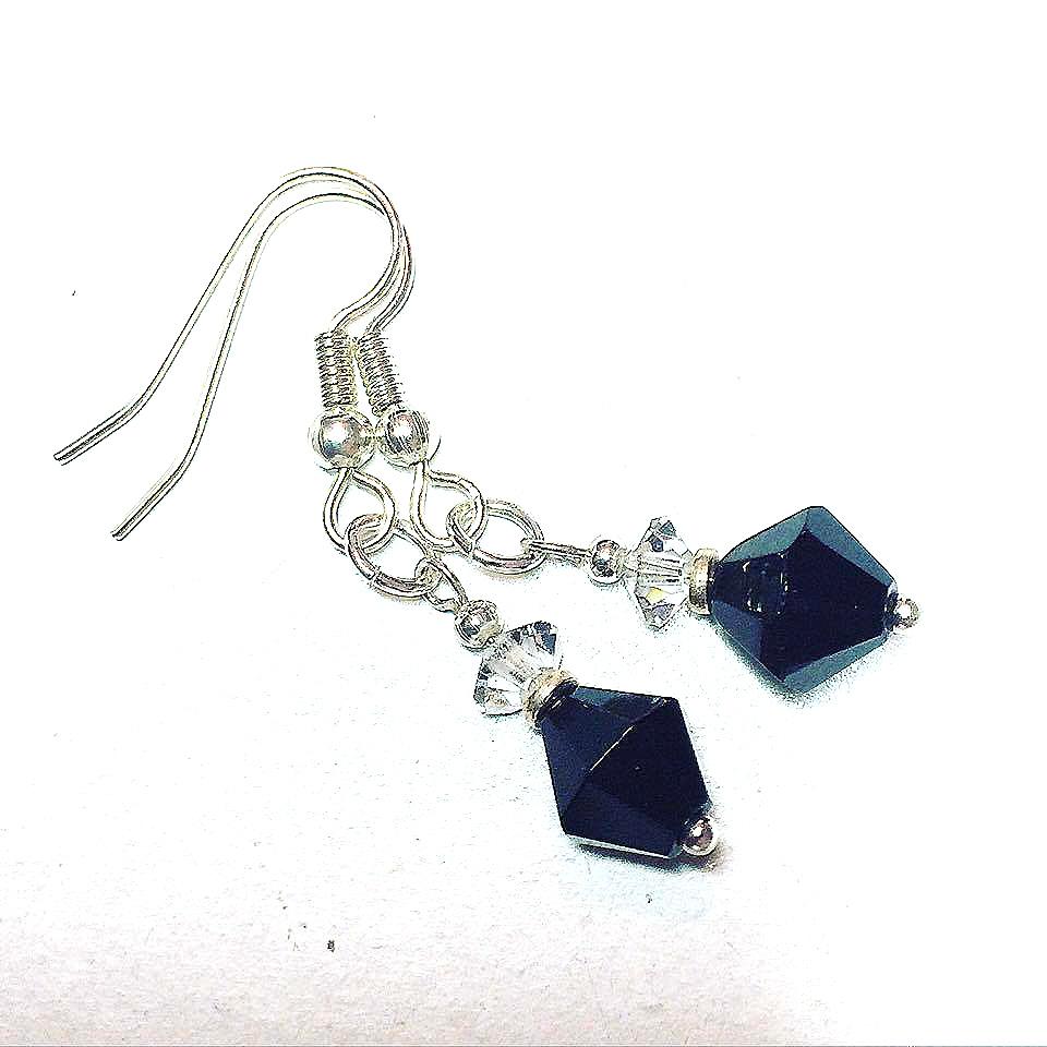 Art Deco Style Drop Earrings