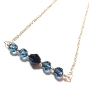 blue bar necklace