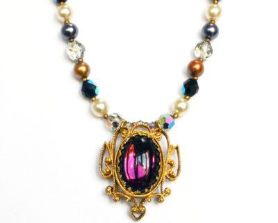 purple pre-raphaelite necklace