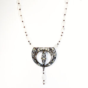 reworked vintage bridal necklace
