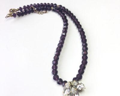 repurposed vintage jewellery, purple