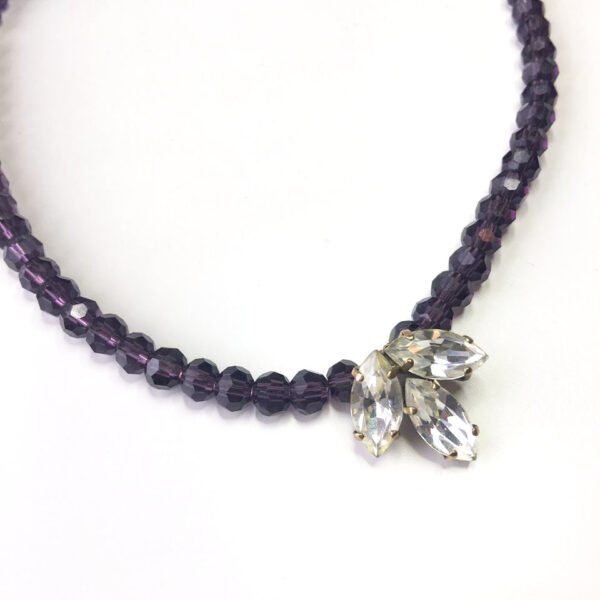 repurposed vintage jewellery, purple necklace