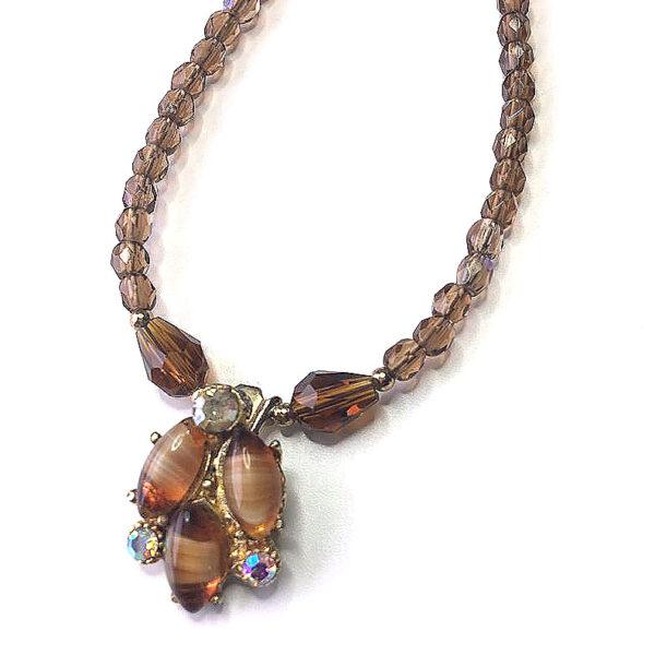 re-purposed vintage pendant necklace